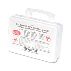 Unisan 03082 Bloodborne Pathogen Clean-Up Kit In Plastic Case, Wall-Mountable