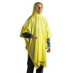 Unisan 07000 Disposable Rain Poncho, 100% Pvc, Yellow