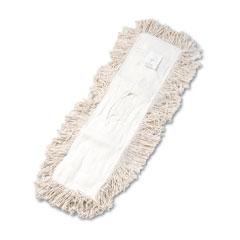 Unisan 1324 Industrial Dust Mop Head, Hygrade Cotton, 24W X 5D, White