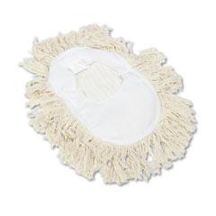 Unisan 1491 Wedge Dust Mop Head, Cotton, 17 1/2 L X 13 1/2 W, White