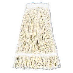 Unisan 424C Pro Loop Web/Tailband Wet Mop Head, Cotton, 24-Oz., White