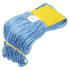 Unisan UNS501BL Super Loop Wet Mop Heads, Cotton/Synthetic, Small Size, Blue
