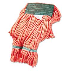 Unisan UNS502OR Super Loop Wet Mop Heads, Cotton/Synthetic, Medium Size, Orange