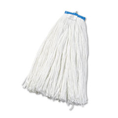 Unisan 724R Cut-End Lie-Flat Wet Mop Head, Rayon, 24-Oz., White