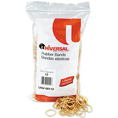 Universal 00112 Rubber Bands, Size 12, 1-3/4 X 1/16, 2500 Bands/1Lb Pack