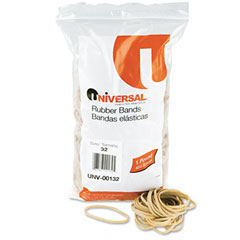 Universal 00132 Rubber Bands, Size 32, 3 X 1/8, 820 Bands/1Lb Pack