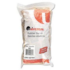 Universal 00164 Rubber Bands, Size 64, 3-1.2 X 1/4, 320 Bands/1Lb Pack