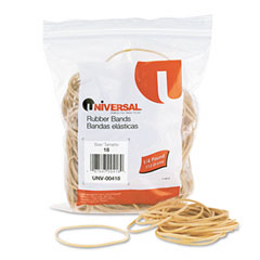 Universal 00418 Rubber Bands, Size 18, 3 X 1/16, 400 Bands/1/4Lb Pack