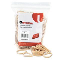 Universal 00430 Rubber Bands, Size 30, 2 X 1/8, 275 Bands/1/4Lb Pack
