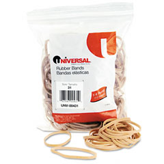 Universal 00431 Rubber Bands, Size 31, 2-1/2 X 1/8, 245 Bands/1/4Lb Pack