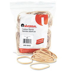 Universal 00432 Rubber Bands, Size 32, 3 X 1/8, 205 Bands/1/4Lb Pack