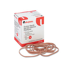 Universal 00433 Rubber Bands, Size 33, 3-1/2 X 1/8, 160 Bands/1/4Lb Pack