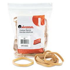 Universal 00464 Rubber Bands, Size 64, 3-1/2 X 1/4, 80 Bands/1/4Lb Pack