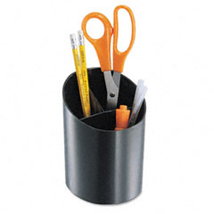 Universal - recycled big pencil cup, plastic, 4 1/4 dia. x 5 3/4, black, sold as 1 ea