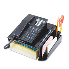 Universal - telephone stand and message center, 12 1/4 x 10 1/2 x 5 1/4, black, sold as 1 ea
