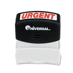 Universal - message stamp, urgent, pre-inked/re-inkable, red, sold as 1 ea