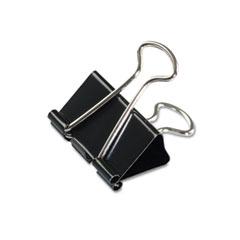 Universal - medium binder clips, steel wire, 5/8-inch cap., 1-1/4-inch wide, black/silver, dozen, sold as 1 dz