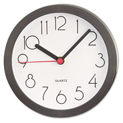 Universal 10411 Cubicle Clock, 6In, Black