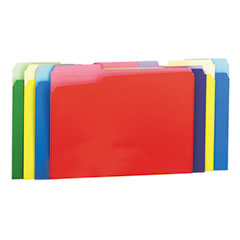 Universal 10506 Colored File Folders, 1/3 Cut Single-Ply Top Tab, Letter, Assorted, 100/Box