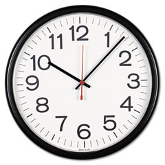 Universal - indoor/outdoor clock, 13-1/2in, black, sold as 1 ea