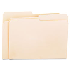 Universal - file folders, 1/2 cut, one-ply top tab, letter, manila, 100/box, sold as 1 bx