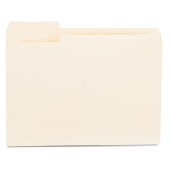 Universal - file folders, 1/3 cut first position, one-ply top tab, letter, manila, 100/box, sold as 1 bx