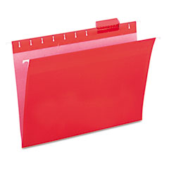 Universal - hanging file folders, 1/5 tab, 11 point stock, letter, red, 25/box, sold as 1 bx