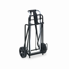 Universal UNV14201 Luggage Cart, 175lb Capacity, 12 x 10-3/4 Platform, Black/Chrome