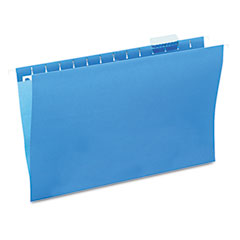 Universal 14216 Hanging File Folders, 1/5 Tab, 11 Point Stock, Legal, Blue, 25/Box