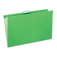 Universal 14217 Hanging File Folders, 1/5 Tab, 11 Point Stock, Legal, Green, 25/Box