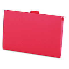 Universal 14218 Hanging File Folders, 1/5 Tab, 11 Point Stock, Legal, Red, 25/Box