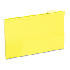 Universal 14219 Hanging File Folders, 1/5 Tab, 11 Point Stock, Legal, Yellow, 25/Box
