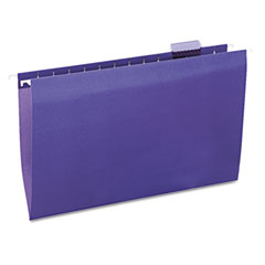 Universal 14220 Hanging File Folders, 1/5 Tab, 11 Point Stock, Legal, Violet, 25/Box