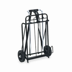 Universal UNV14301 Luggage Cart, 250lb Capacity, 15 x 14 Platform, Black/Chrome