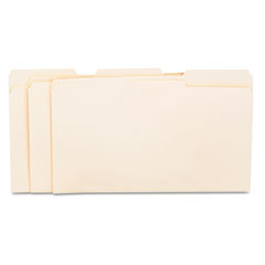 Universal - file folders, 1/3 cut assorted, one-ply top tab, legal, manila, 100/box, sold as 1 bx