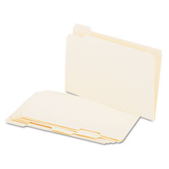Universal - file folders, 1/5 cut assorted, one-ply top tab, legal, manila, 100/box, sold as 1 bx