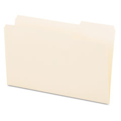 Universal - file folders, 1/3 cut, one-ply top tab, third position, legal, manila, 100/box, sold as 1 bx