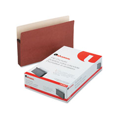 Universal - 5 1/4 inch expansion file pockets, straight, legal, redrope/manila, 10/box, sold as 1 bx