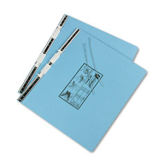 Pressboard Hanging Data Binder, 14-7/8 x 11 Unburst Sheets, Light Blue