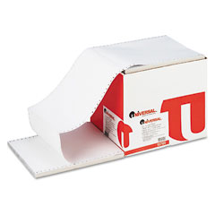 Universal 15705 4-Part Carbonless Paper, 15Lb, 9-1/2 X 11, Perforated, White, 900 Sheets