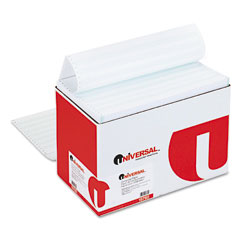 Universal 15782 Green Bar Computer Paper, 20Lb, 14-7/8 X 8-1/2, Perforated Margins, 2600 Sheets