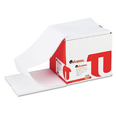 Universal - computer paper, 20lb, 9-1/2 x 11, letter trim perforations, white, 2400 sheets, sold as 1 ct