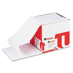 Universal 15806 Computer Paper, 15Lb, 9-1/2 X 11, Letter Trim Perforations, White, 3300 Sheets