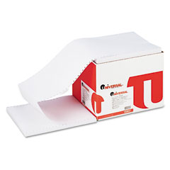 Universal - computer paper, 20lb, 9-1/2 x 11, letter trim perforation, white, 2300 sheets, sold as 1 ct