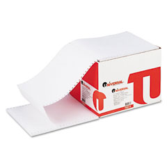 Universal 15811 Computer Paper, 18Lb, 9-1/2 X 11, Letter Trim Perforations, White, 2300 Sheets