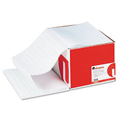 Universal 15850 Green Bar Computer Paper, 15Lb, 14-7/8 X 11, Perforated Margins, 3000 Sheets