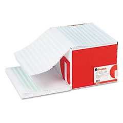 Universal - green bar computer paper, 20lb, 14-7/8 x 11, perforated margins, 2400 sheets, sold as 1 ct