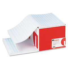 Universal 15861 Blue Bar Computer Paper, 18Lb, 14-7/8 X 11, Perforated Margins, 2600 Sheets