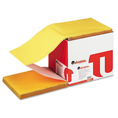 Universal - multicolor paper, 4-part carbonless, 15lb, 9-1/2 x 11, perforated, 900 sheets, sold as 1 ct