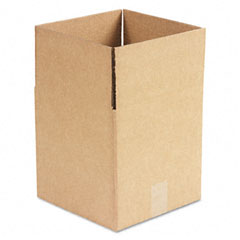Universal 166173 Corrugated Kraft Fixed-Depth Shipping Carton, 10W X 10L X 10H, Brown, 25/Bundle